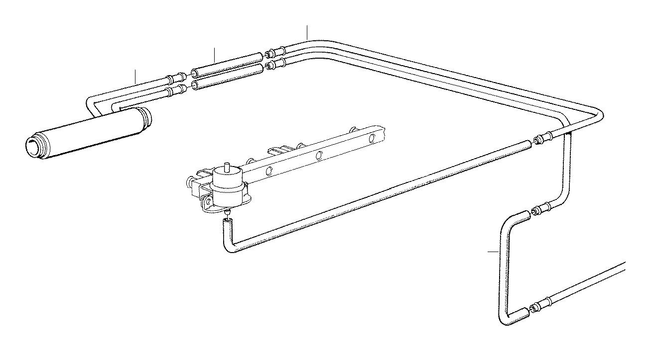 BMW 325e Suction pipe evaporator-compressor. Fuel, system