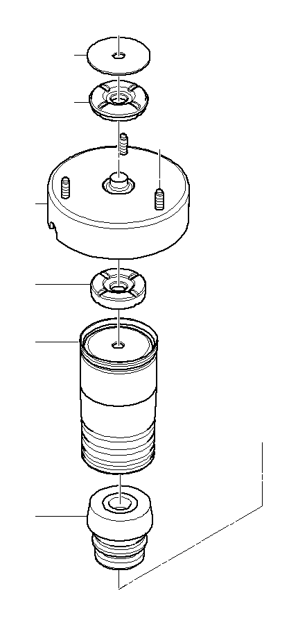 BMW X5 Additional shock absorber, front. Suspension, Axle