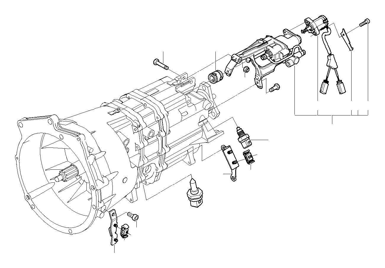 BMW 550i Reversing light switch. M12X1.5. Transmission