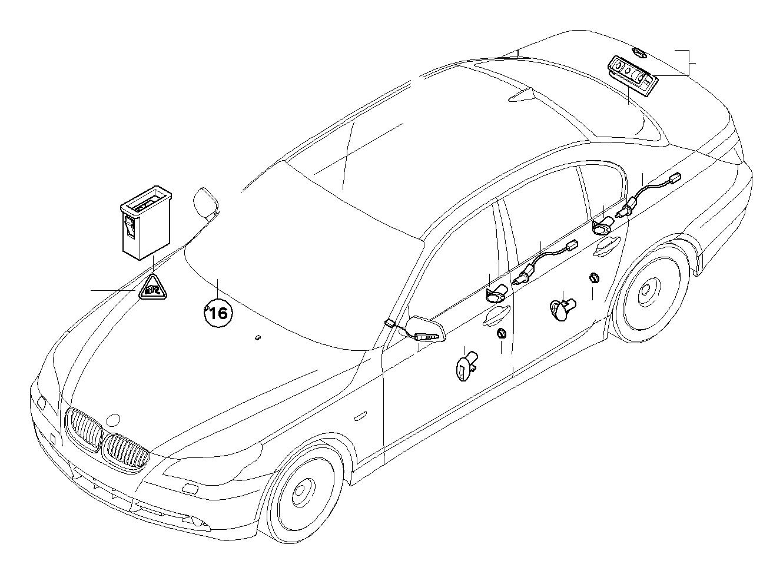 Bmw 528ix Luggage Compartment Light Trunk Lid Alpina