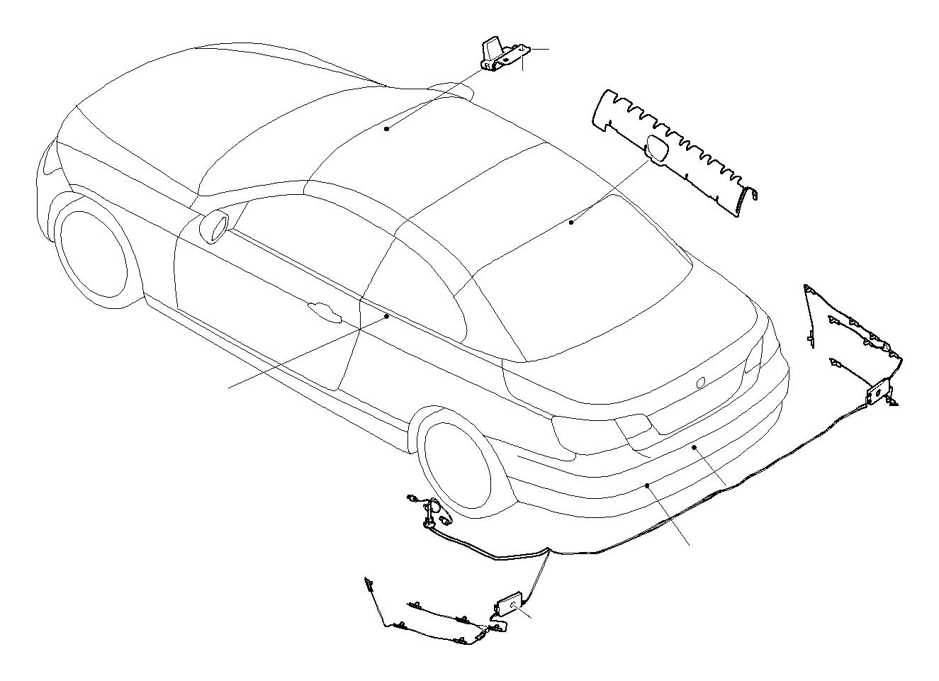 BMW M3 Aerial AM/FM, right. Trim, Antenna, Lateral