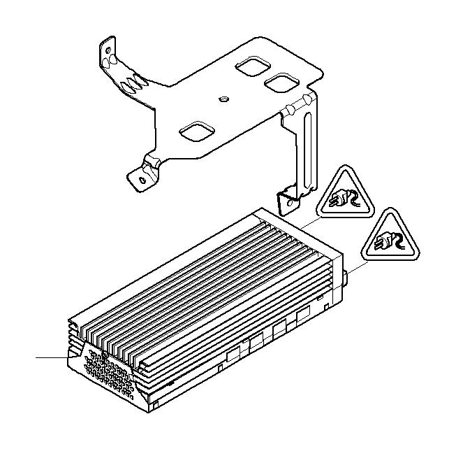 BMW 550i Amplifier hifi system. Holder, electrical