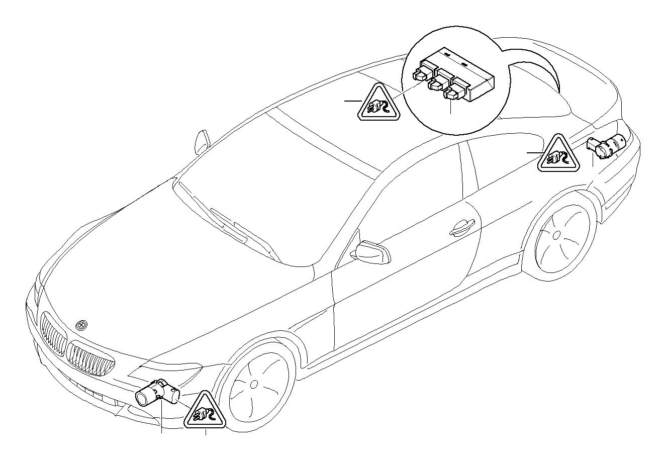 Bmw 740il Repair Kit Socket Housing 3 Pol