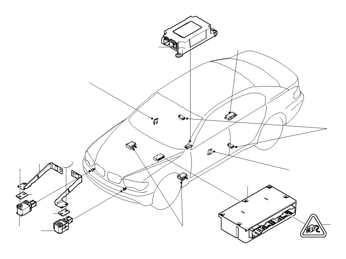 BMW 745i Sensor, vehicle center. Electric, Airbag, System