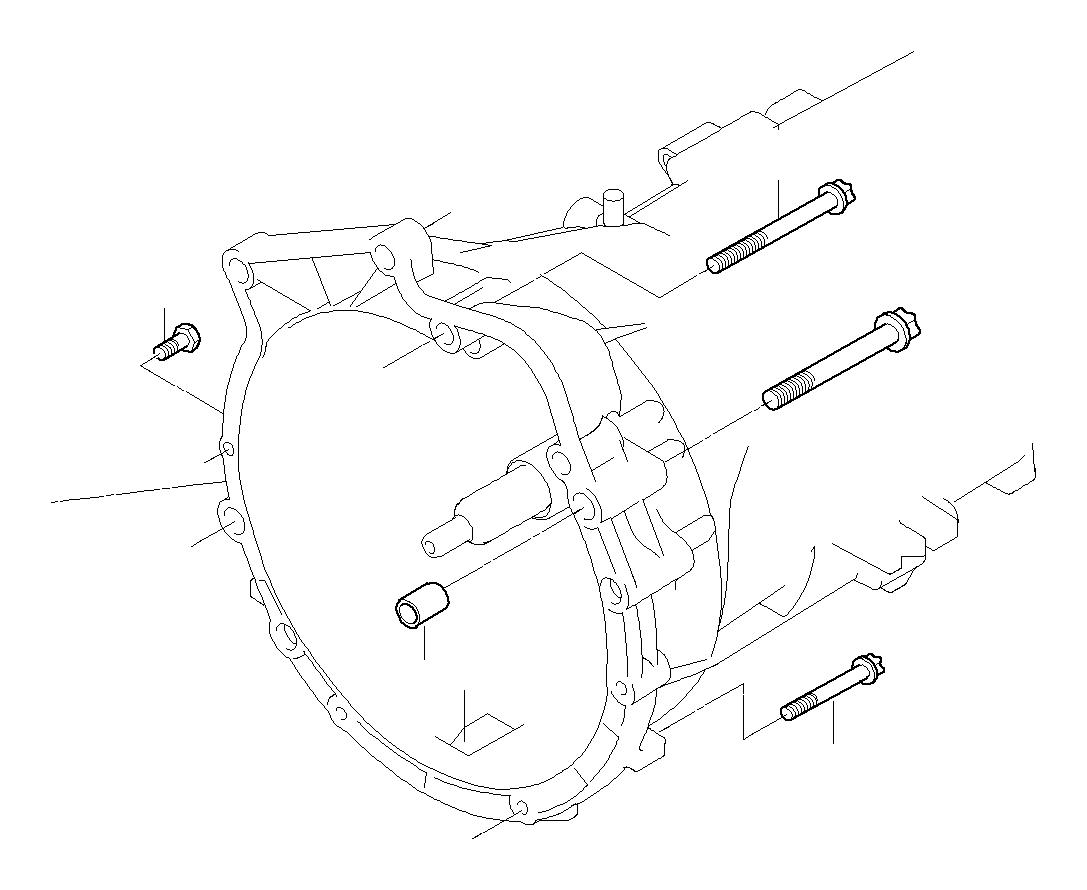 Bmw 330i Torx Bolt M12x75 Mounting Suspension Gearbox