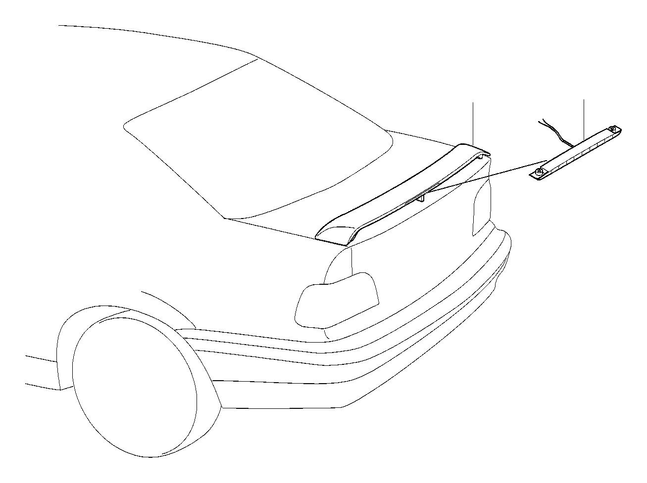 BMW 320i Stoplamp rear spoiler. Ersatzteil. Exterior