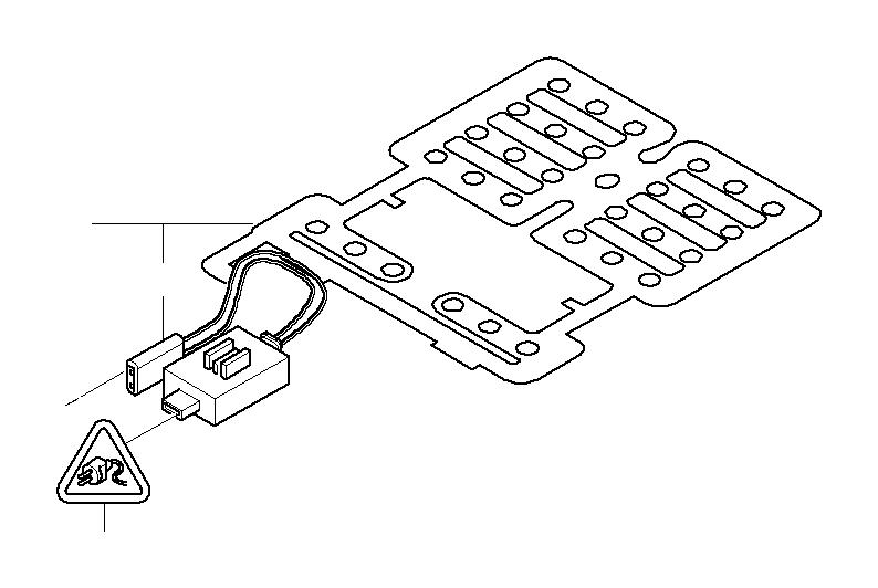 BMW 645Ci Control electronics, seat occupancy. Airbag