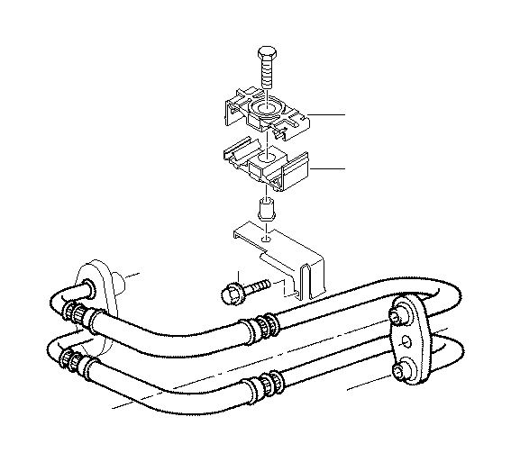 BMW Z3 Bracket oil pipe. Cooling, radiator, engine