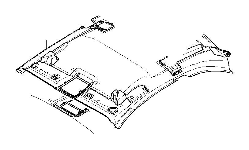 BMW 128i Headlining. ANTHRAZIT. Equipment, Interior, Trim