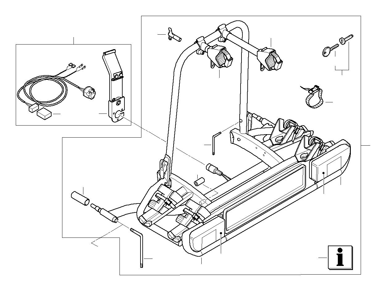 BMW Hybrid 7L Key (Code). CODE 001.041. Rack, ECE, Bike