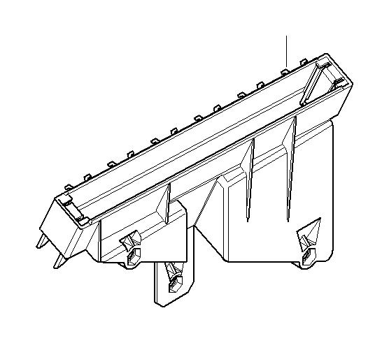 BMW 740iLP Relay bracket. Housing, fuse, electrical