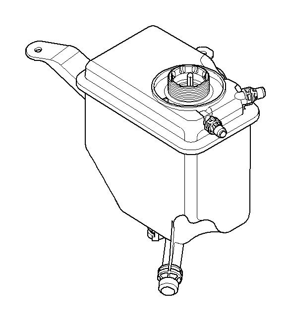 BMW 535i Cooling water expansion tank. Tanks, Radiator