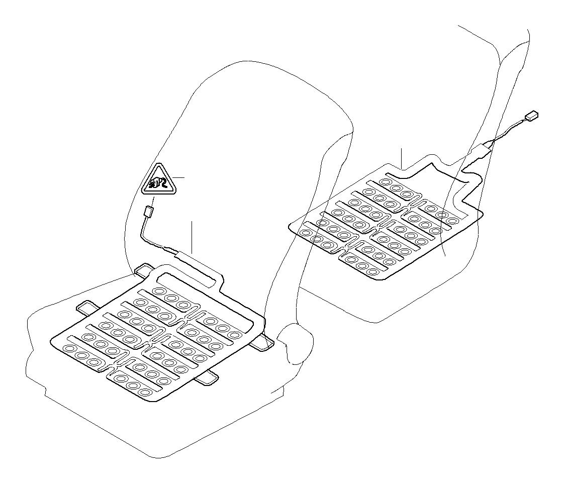 Bmw 760li Sensor Mat Front Seats Airbag Electrical