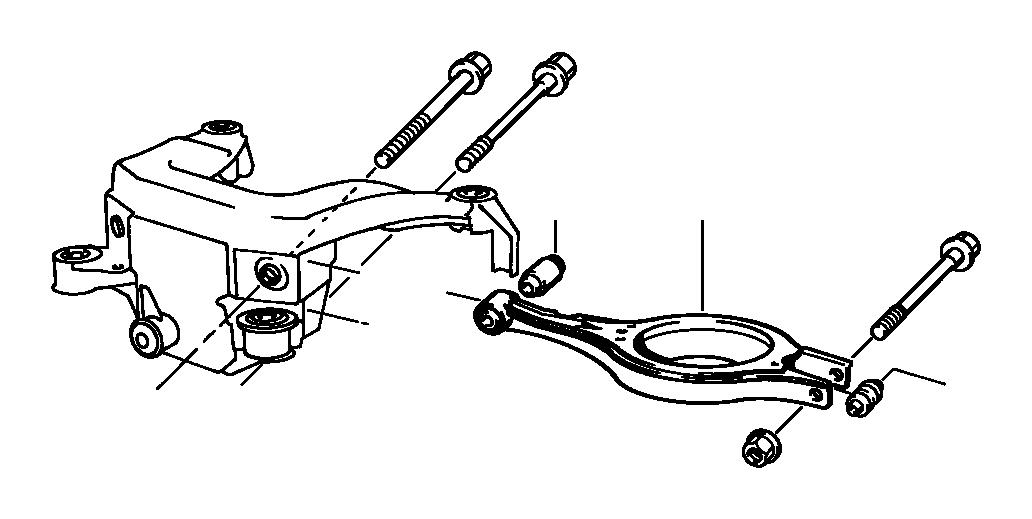BMW 328i Wishbone, upper right. Suspension, Axle, Rear