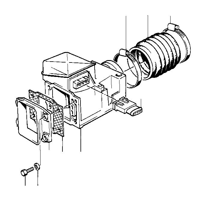 1985 BMW 535i Plug housing. System, Sensor, Fuel