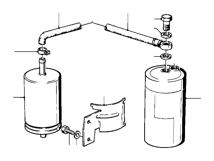 BMW 325i Fuel hose. 32MM-210MM. System, SUPPLY, Filter