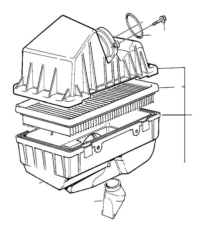 BMW 750iL Intake silencer left. Fuel, Filter, Cartridge
