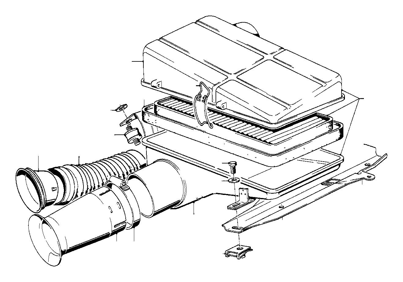 Bmw 633csi Air Filter Element Intake Fuel Silencer