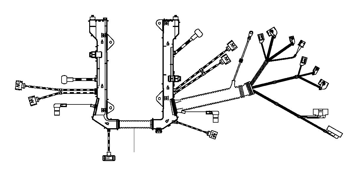 BMW 650i Engine wiring harness, engine module. System