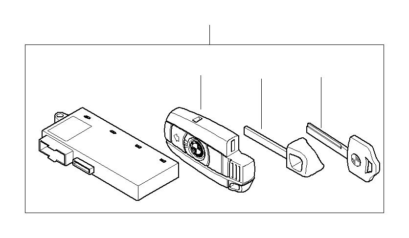 BMW 330i Set of keys with CAS control unit. 315 MHZ