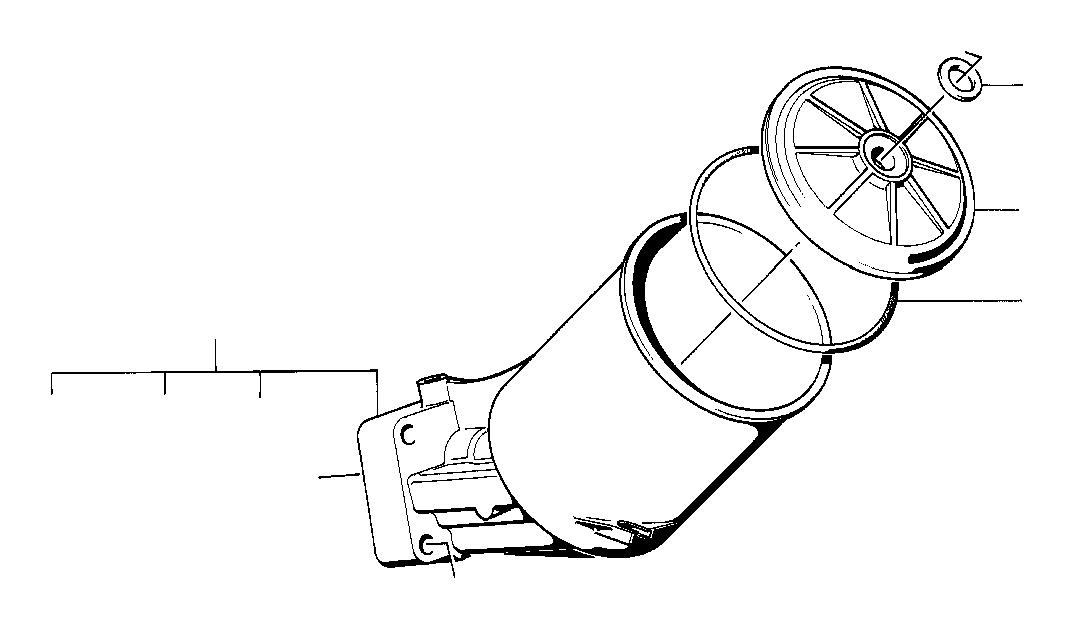 BMW 735i Oil filter housing. System, lubrication, engine