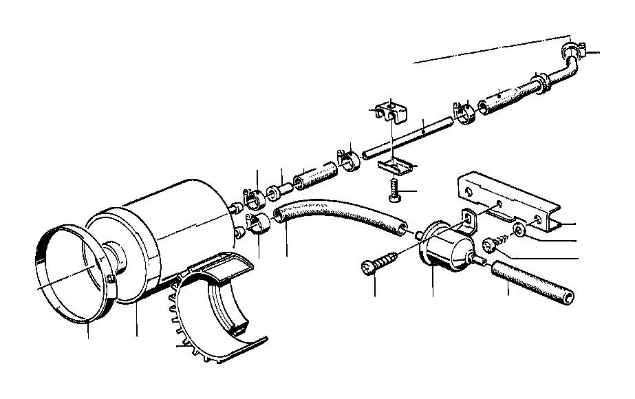 BMW 525i Self tapping screw. Pipe, Brake, Fuel