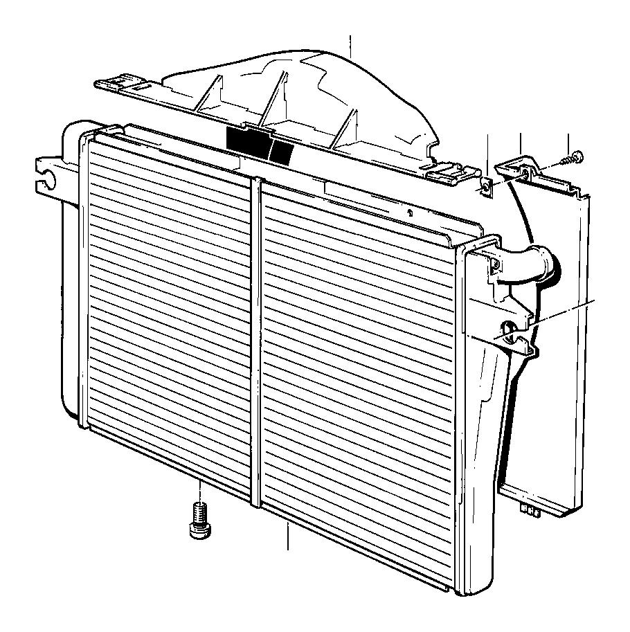 BMW 635CSi Fan shroud. RADIATOR, Engine, Cooling