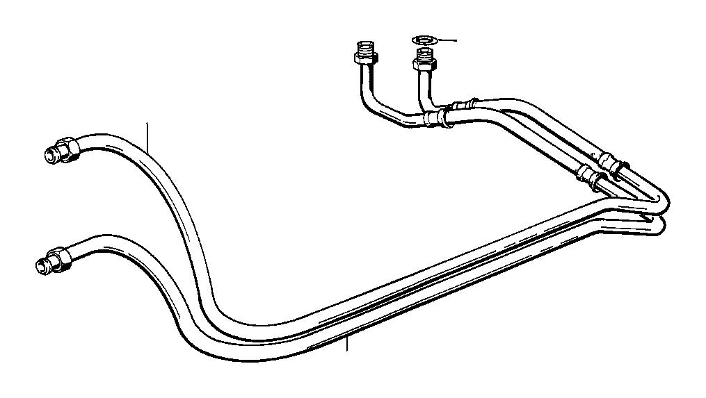 BMW 325i Oil cooling pipe inlet. Transmission, radiator