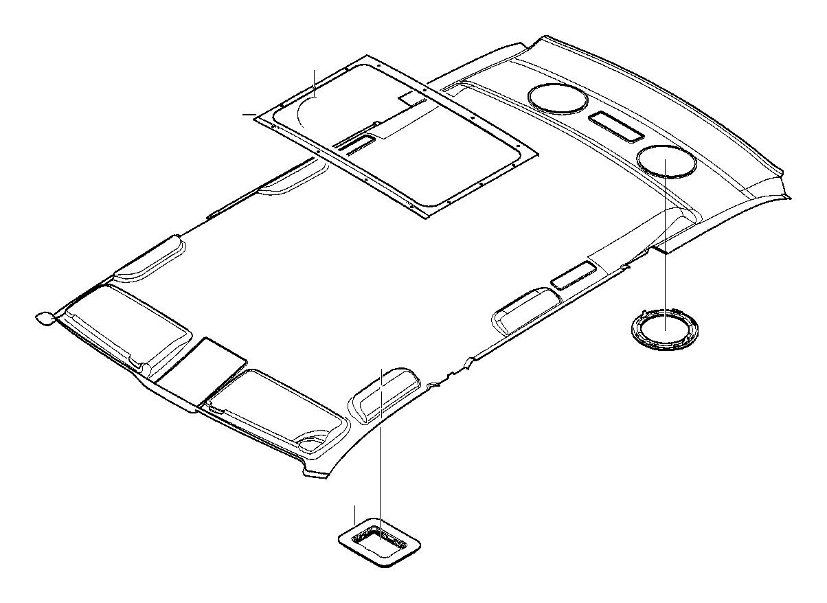 BMW 540i Radio burglar alarm cover. Sandbeige. Interior