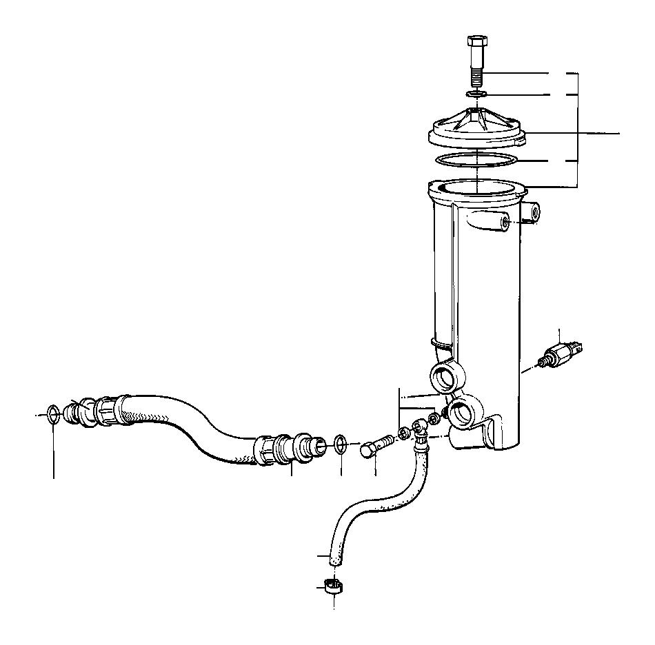 BMW 750iL Pressure hose assy. Lubrication, system