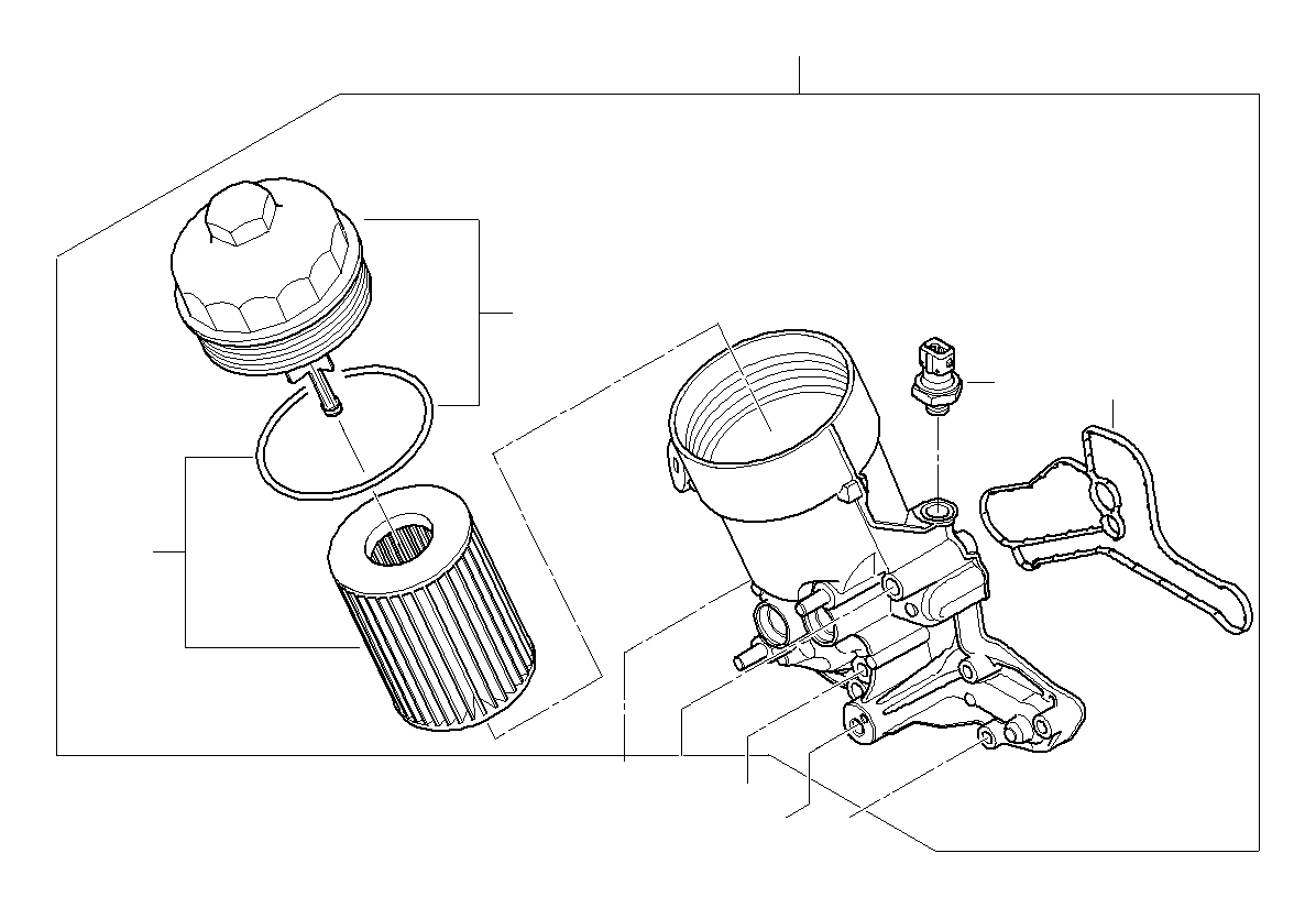 BMW 135i Oil pressure switch. M12x1, 5. Filter, rex