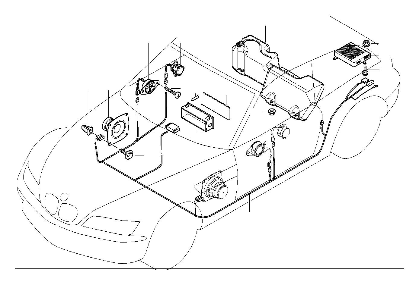 Bmw Z3 Mid Range Loudspeaker Harman Kardon System