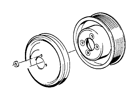 BMW M5 Pulley. D=144 B=12, 7. FAN, Engine, Cooling
