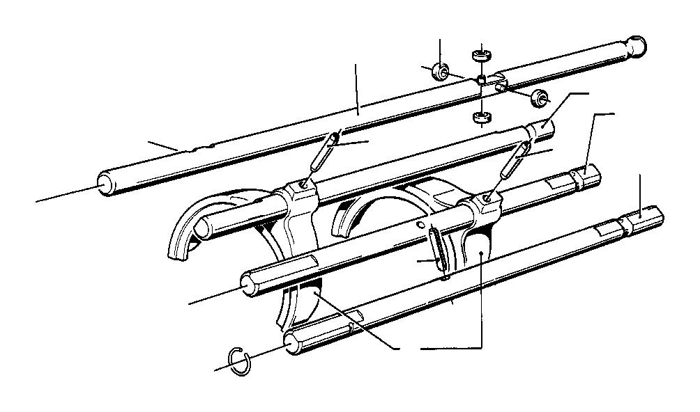 BMW 1602 Shifting fork. Zyl, transmission, getrag