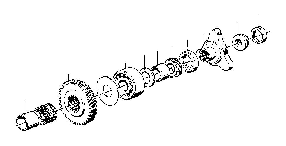 BMW 1602 Speedometer drive. Getrag, gear, set