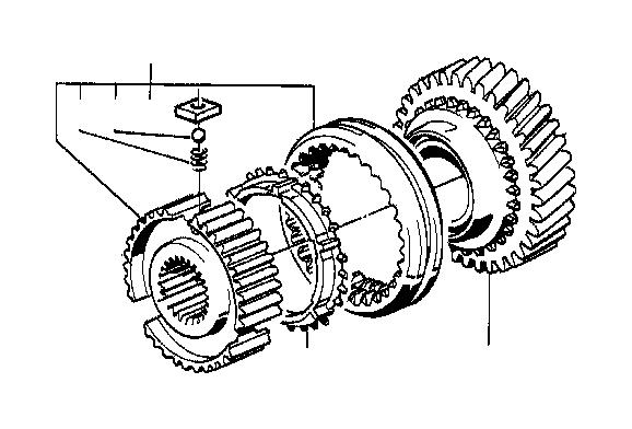 BMW 325i Synchronizer ring. Wheel, transmission, sing