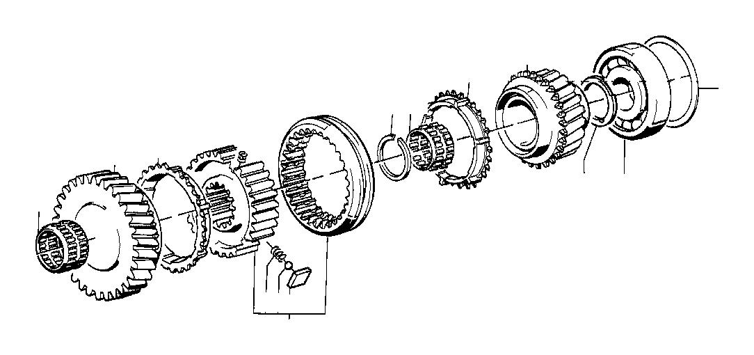 BMW 325ix Lock Ring. 52X44X1, 90. WHEEL, Transmission