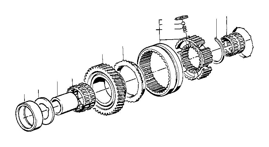 BMW 325ix Compression spring. WHEEL, GETRAG, GEAR