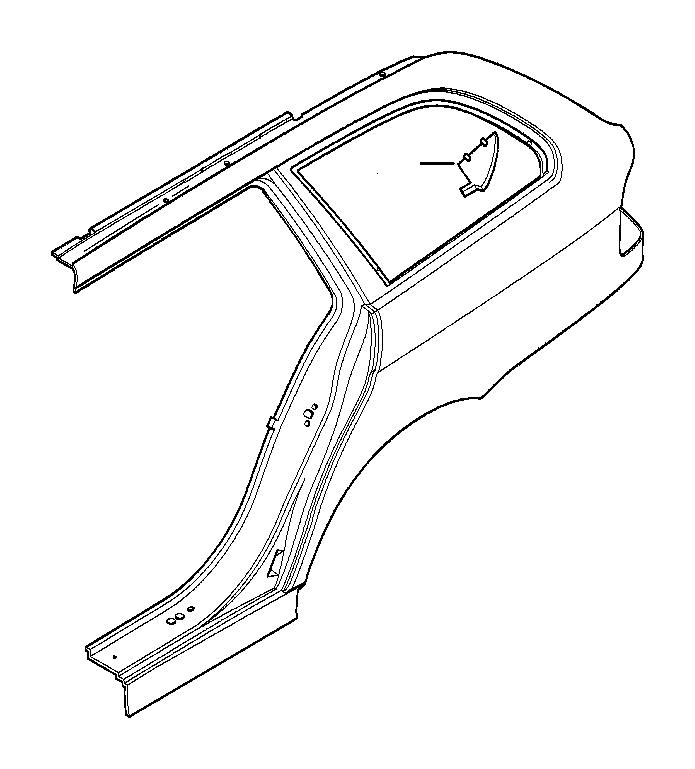 BMW 540i Moulded part column D. Body, Side, Trim