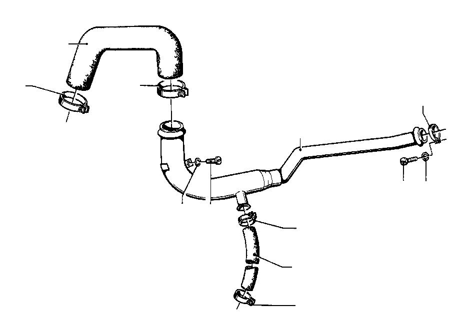 BMW 2002tii Return pipe. Cooling, Hoses, Engine