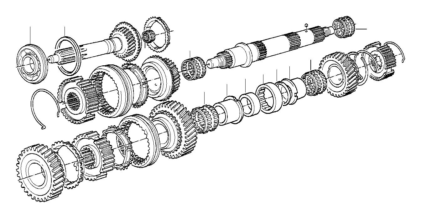 BMW 525i Needle cage. 35x23x16. Getrag, gear, set