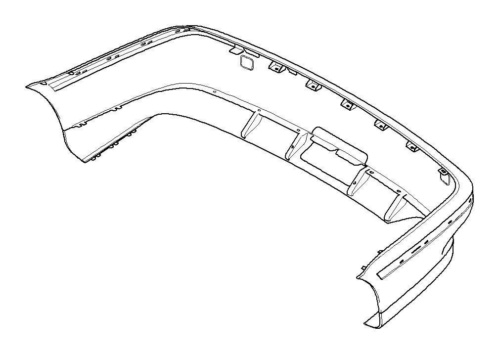 BMW 528i Panel, bumper, primed, rear. Trim, Body