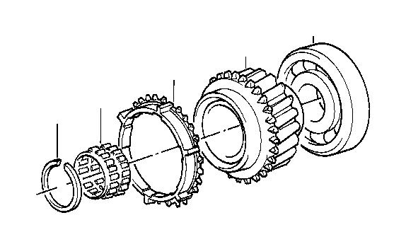 BMW 533i Needle cage. 40x35x28, 5. Wheel, transmission