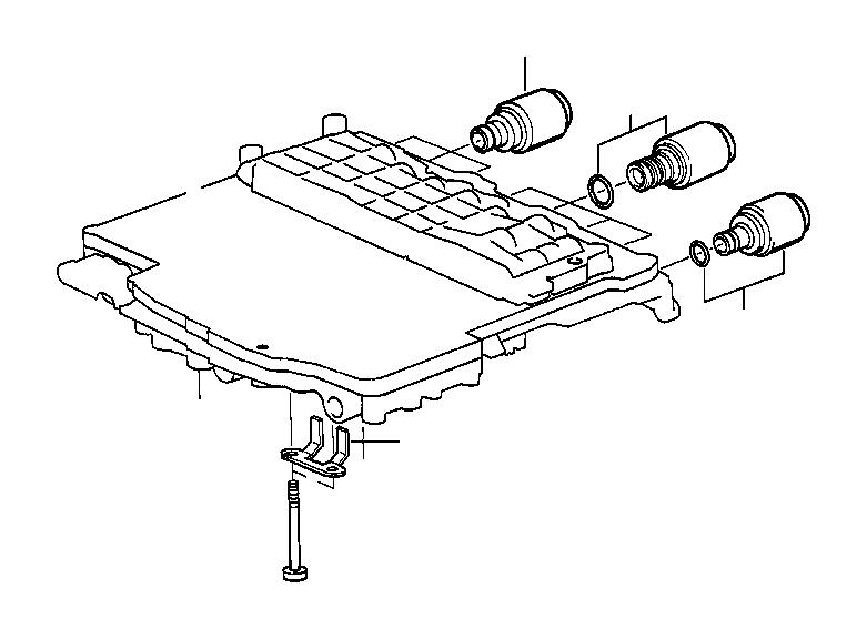 BMW 840i Solenoid valve (SOLV). Control, Transmission