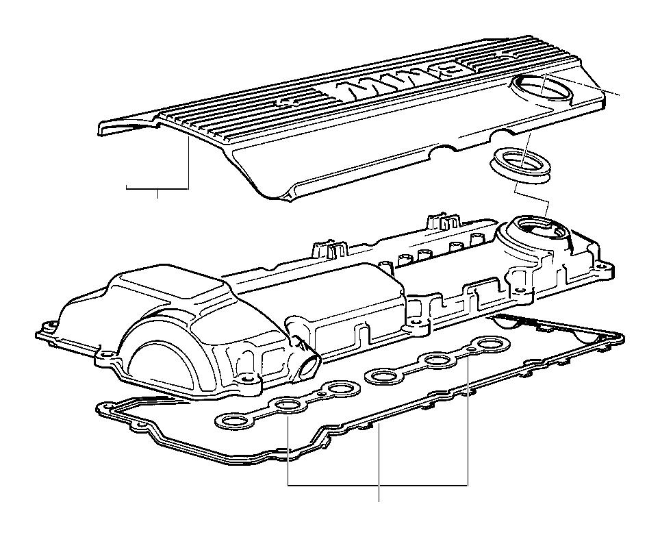 BMW M3 Set of profile gaskets. Cylinder, Head