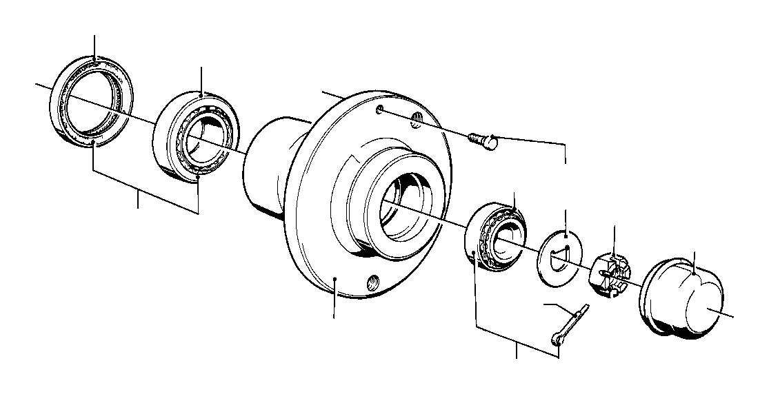 BMW 735i Wheel hub. Suspension, front, bearings, axle