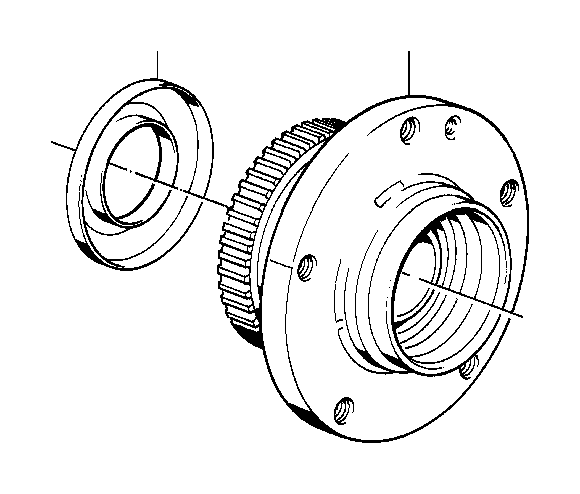 BMW 318i Wheel hub, front, symmetric. Suspension