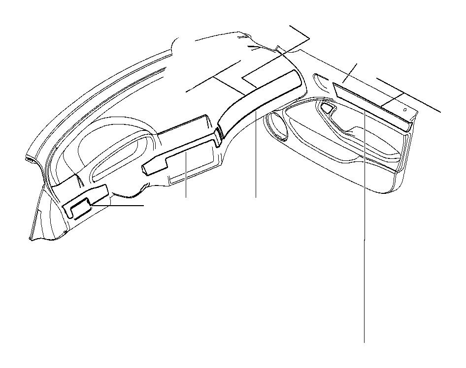 BMW 323i Wood panel, light maple, instr. Panel, cntr. Trim