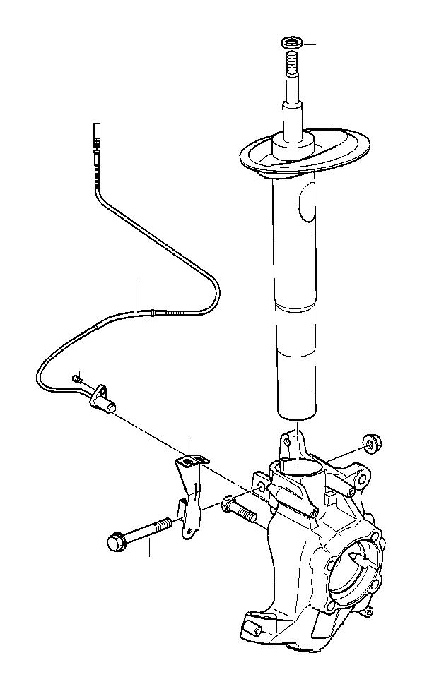 BMW 540i Spring strut, front. Suspension, Struts, Shocks