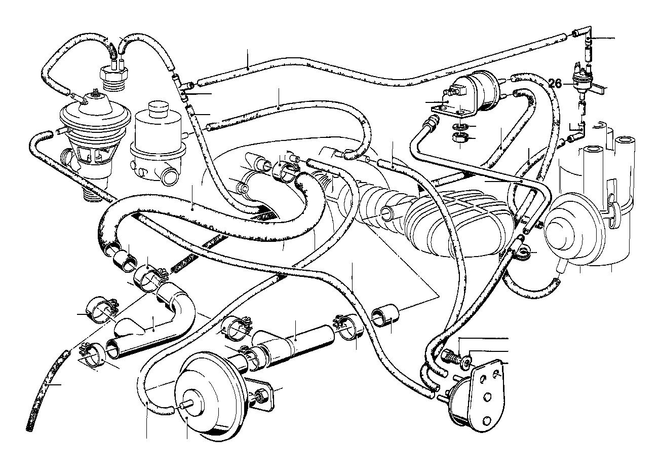 BMW 320i Vacuum hose blue. 3, 3x1, 8. Control, system